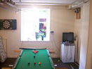 Holiday cottage games room